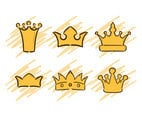Vector Cartoon Crowns