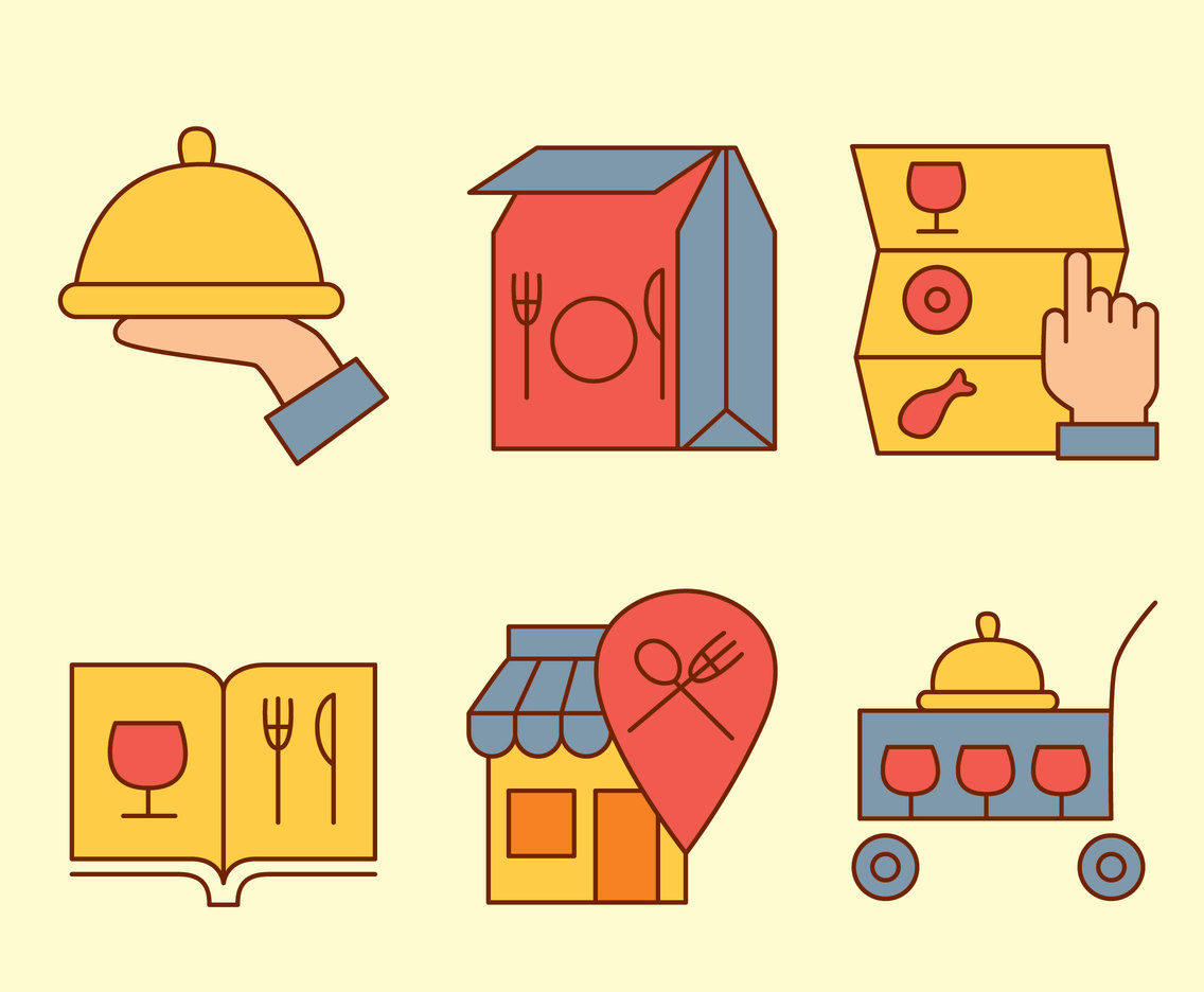 Nice Catering Icons Vectors