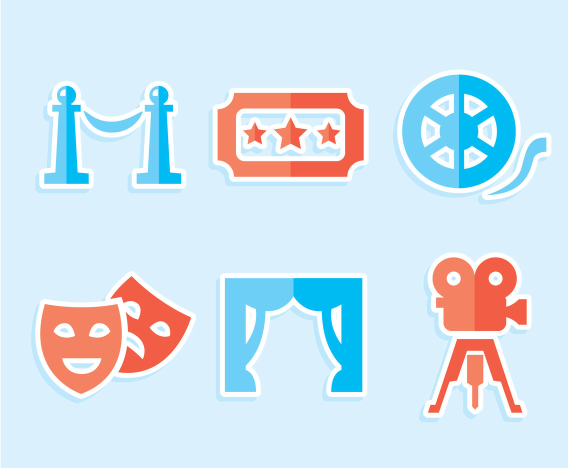 Theatre Element Collection Vector