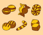 Hand Drawn Caramel Candy Vectors
