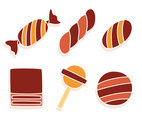 Sweet Caramel Candy Vectors