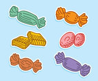 Hand Drawn Sweet Candy Vectors
