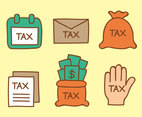 Hand Drawn Tax Element Vectors