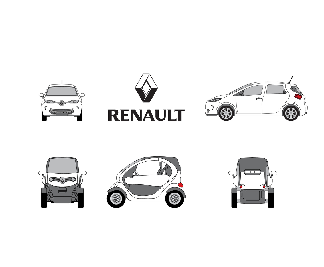 Outline Renault Car