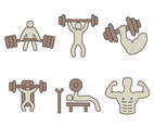 Body Building Gym Vectors