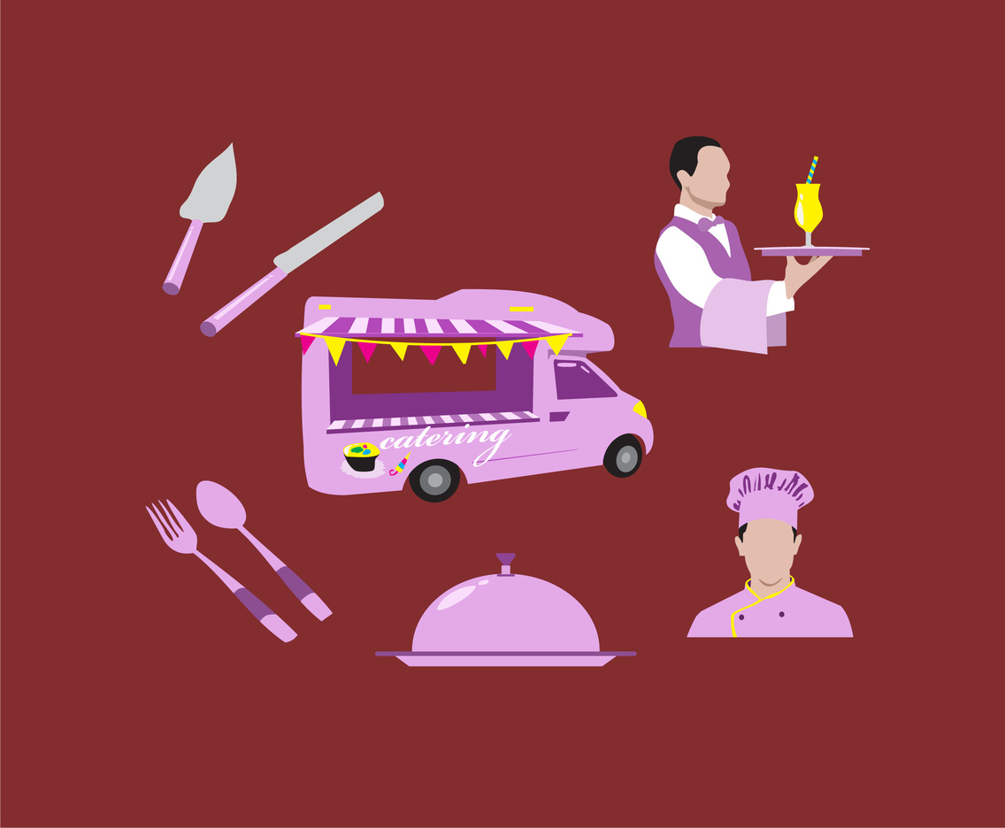 Catering Illustration Vector