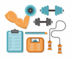 Flex and Workout Equipment Vector Icon Pack