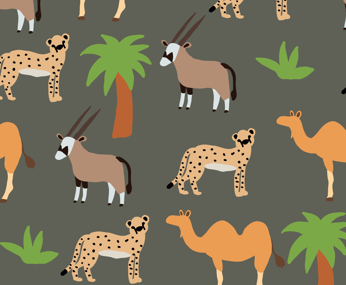 Colorful African Animals Pattern