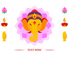 Ganesha Head Vector