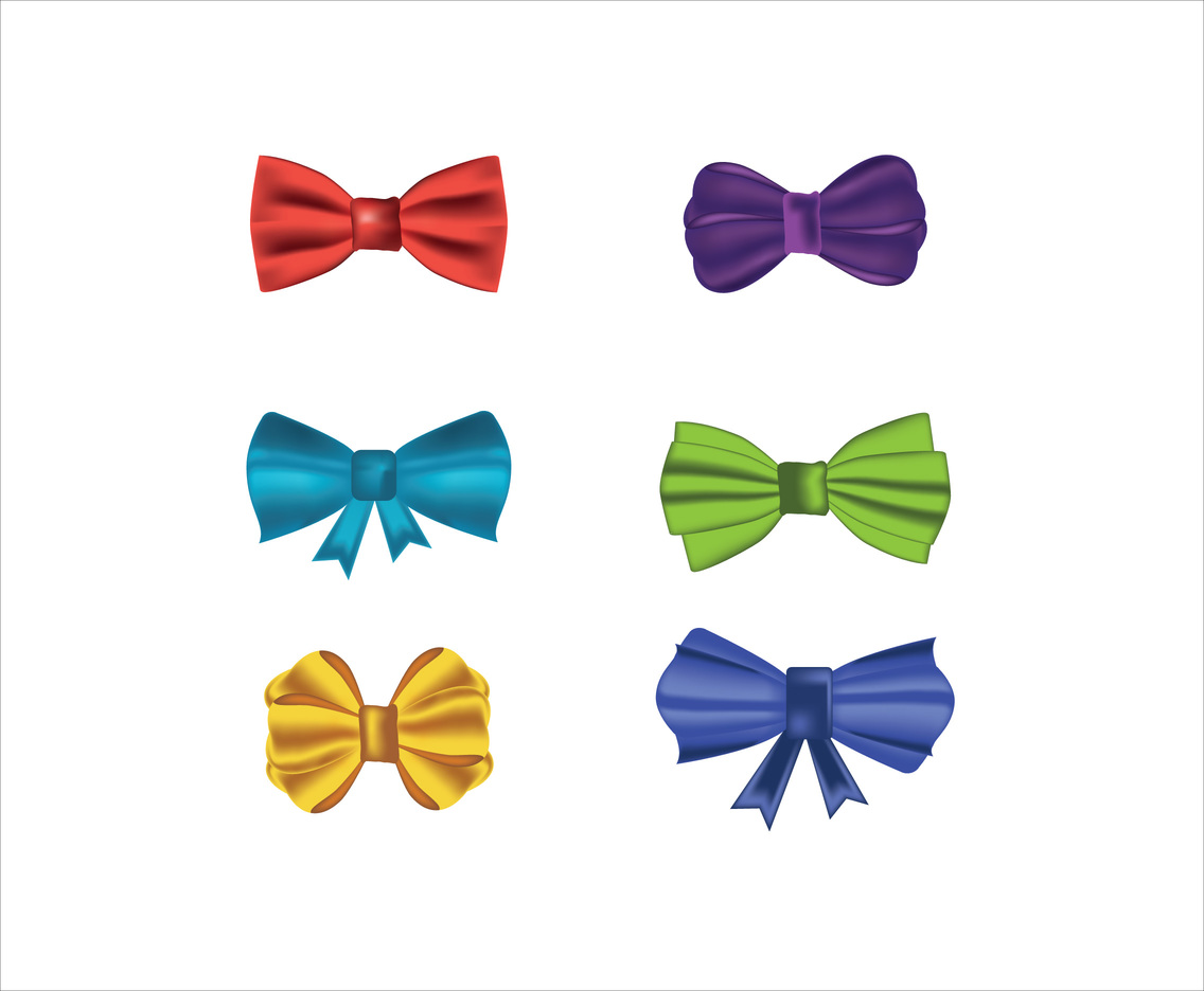 Silk Bow Ties Vector