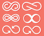 White Eternity Symbol Vector