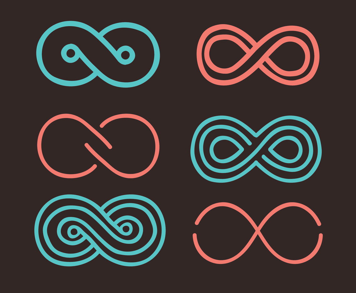 Nice Eternity Motion Symbol Vectors