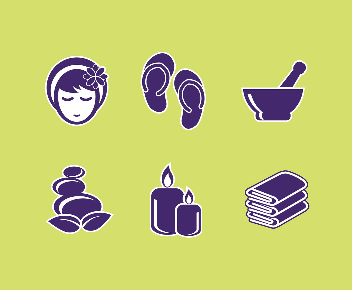 Spa Sticker Icon Vector