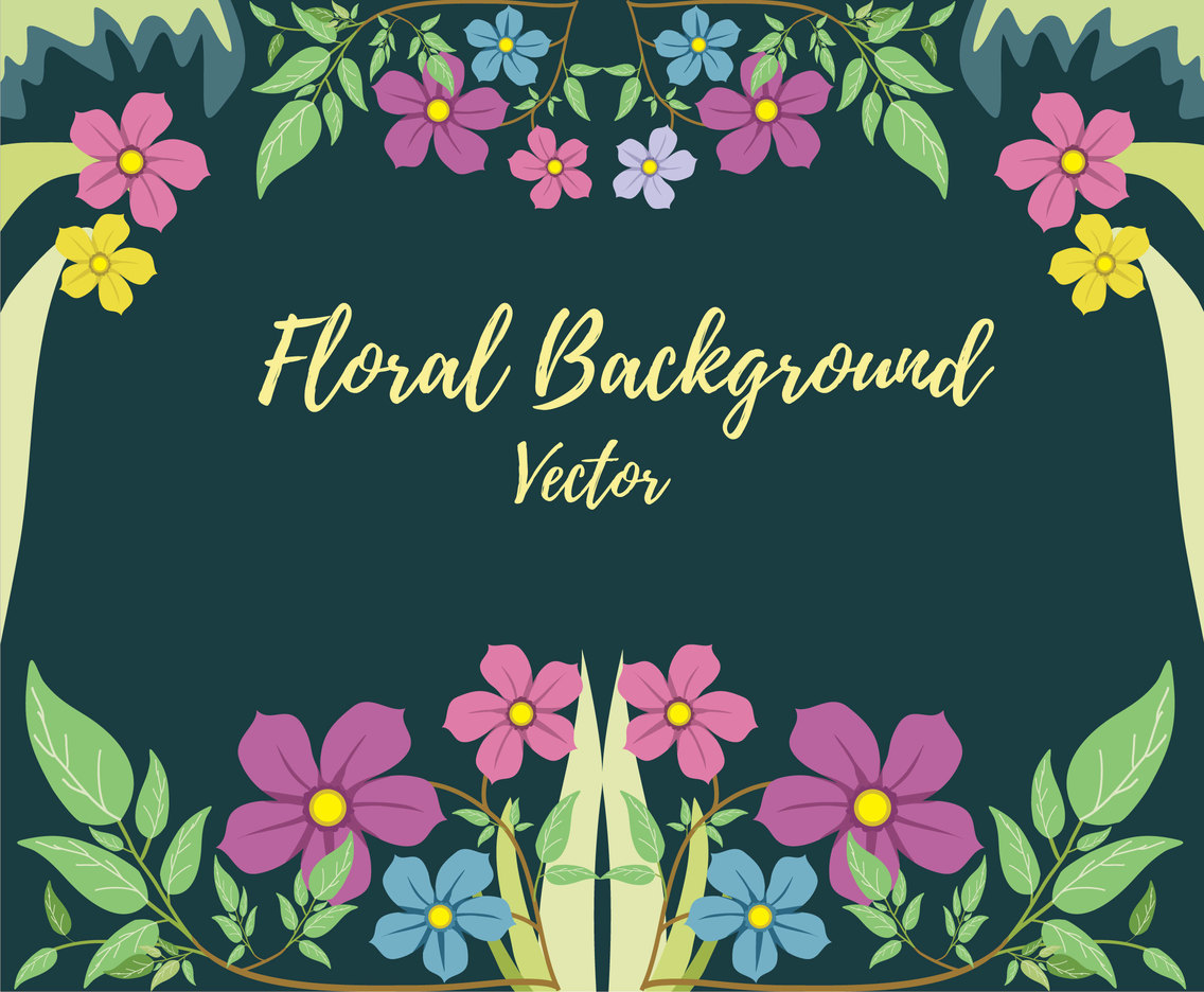 Floral in the Wood Background Vector
