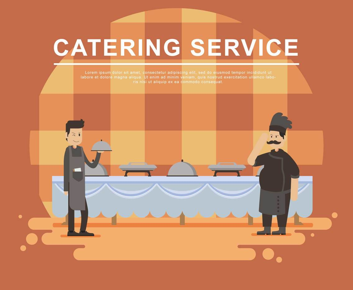 Free Catering Service Illustration