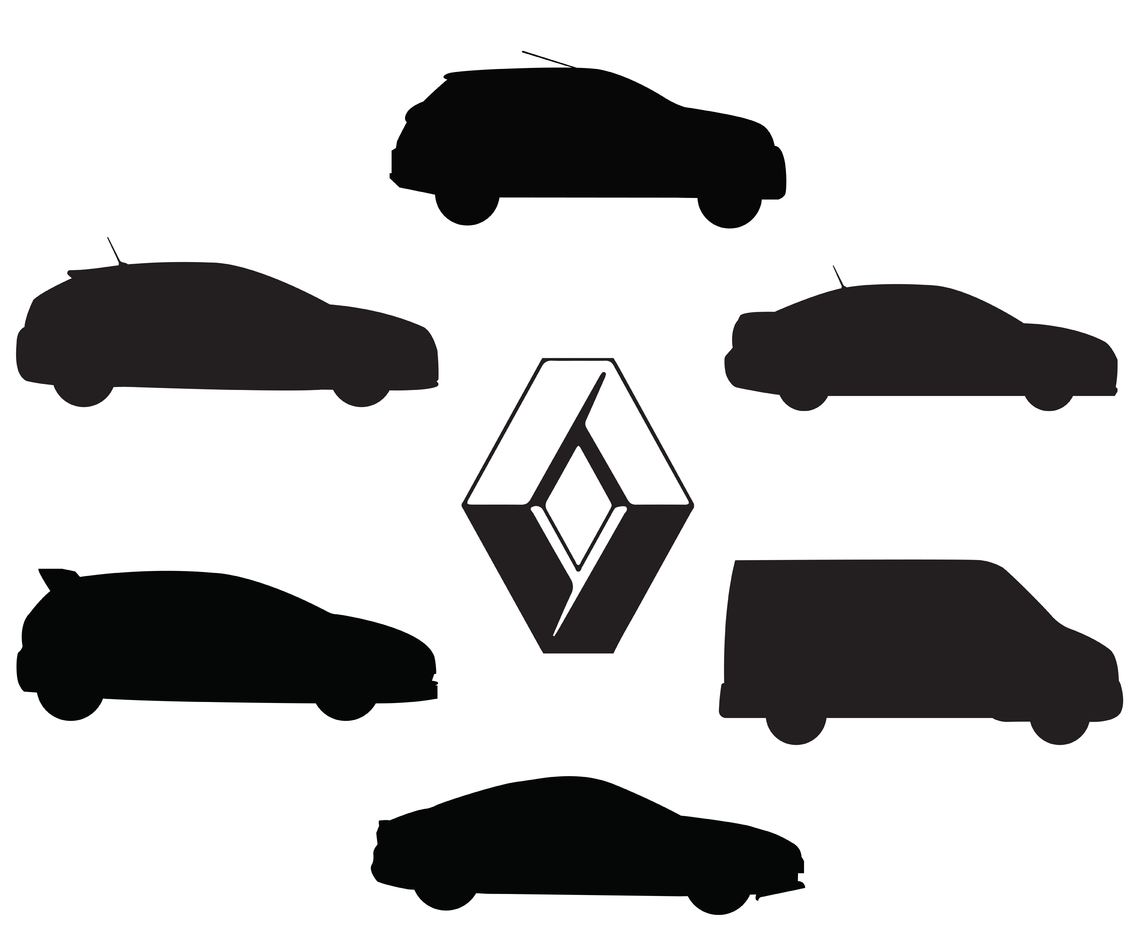 Renault Silhoutte Vector Pack