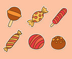 Hand Drawn Sweet Candy Collection Vector