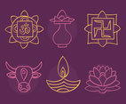 Sketch Hindu Element Collection Vectors