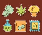 Nice Drugs Collection Vectors