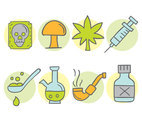Hand Drawn Drugs Collection Vectors