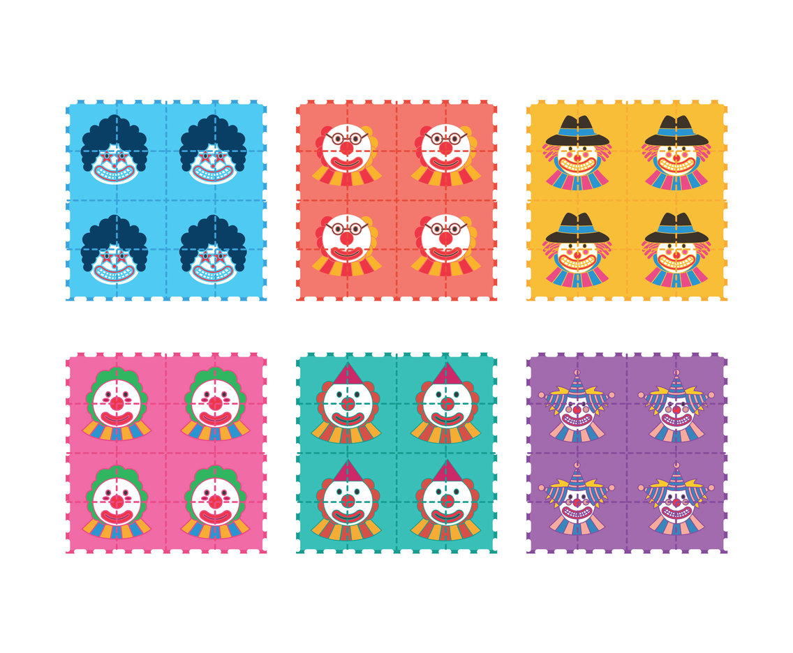 LSD clown vector set