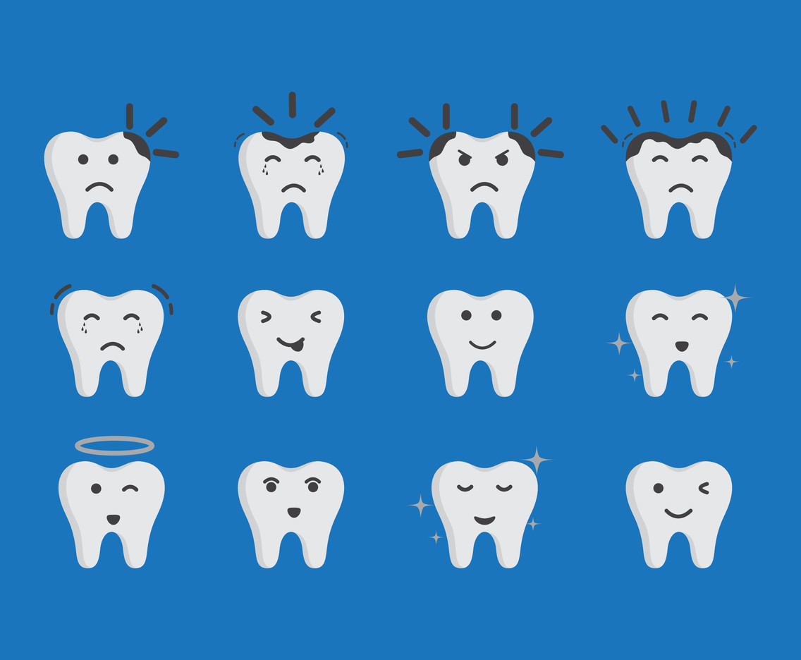 Tooth Cute Icon Vectors