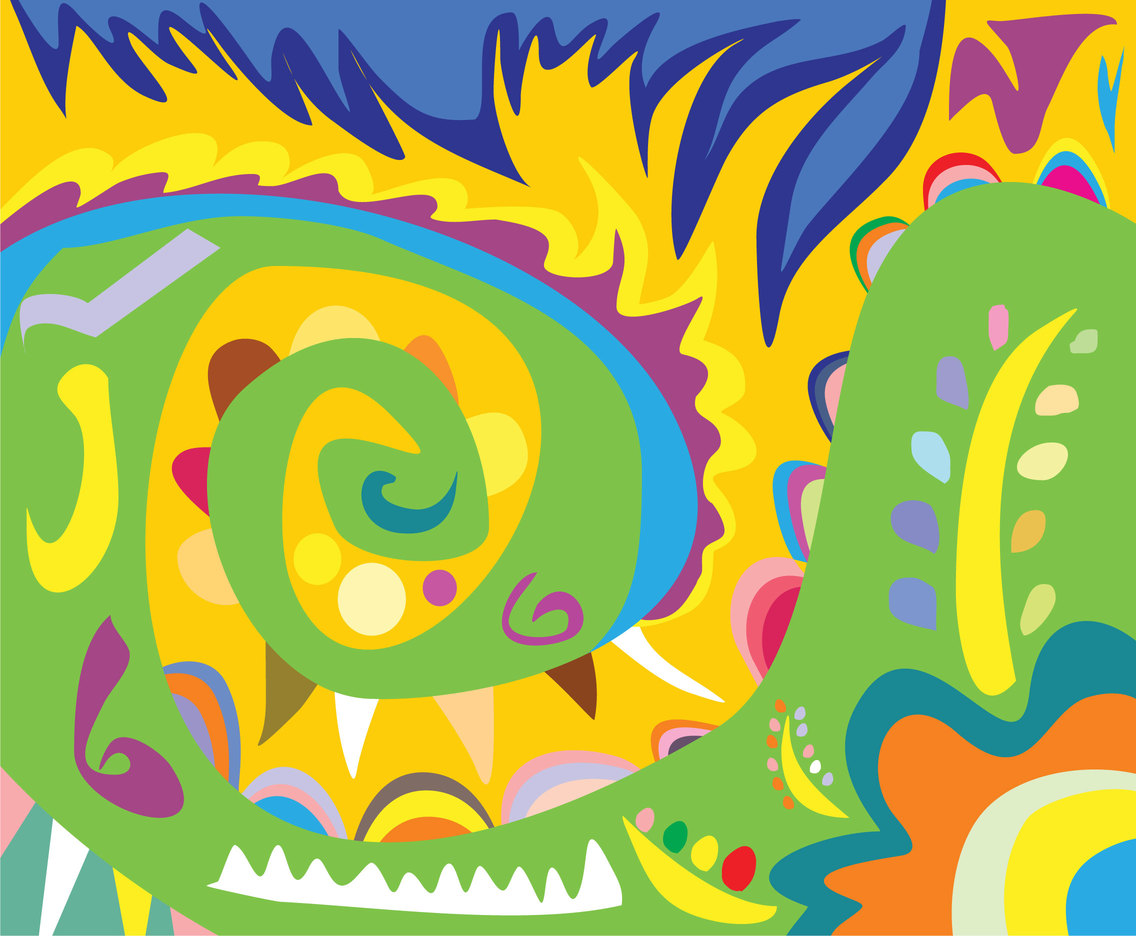 Crazy Hippie Background Vector