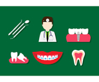 Flat Dentist Icon Vectors