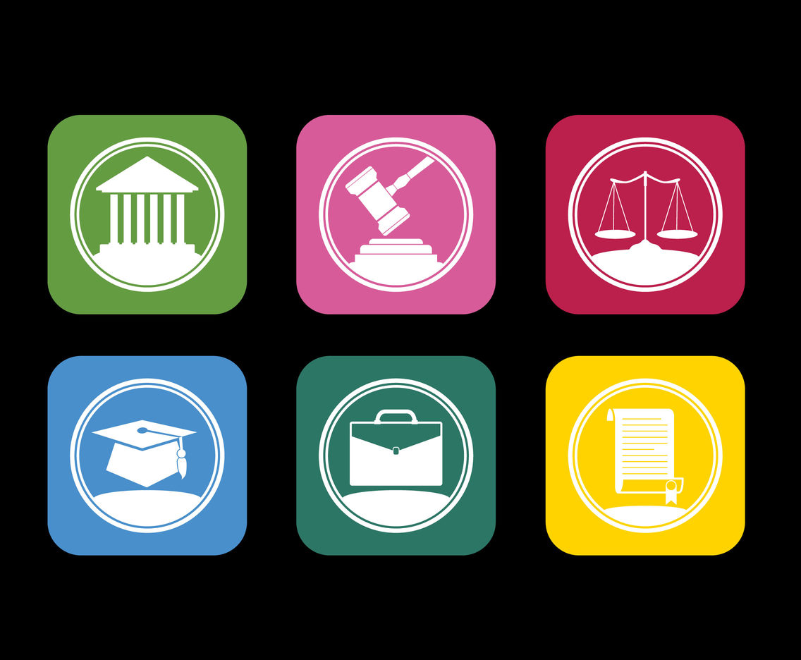 Simple Lawyer Icons and Logo Vectors