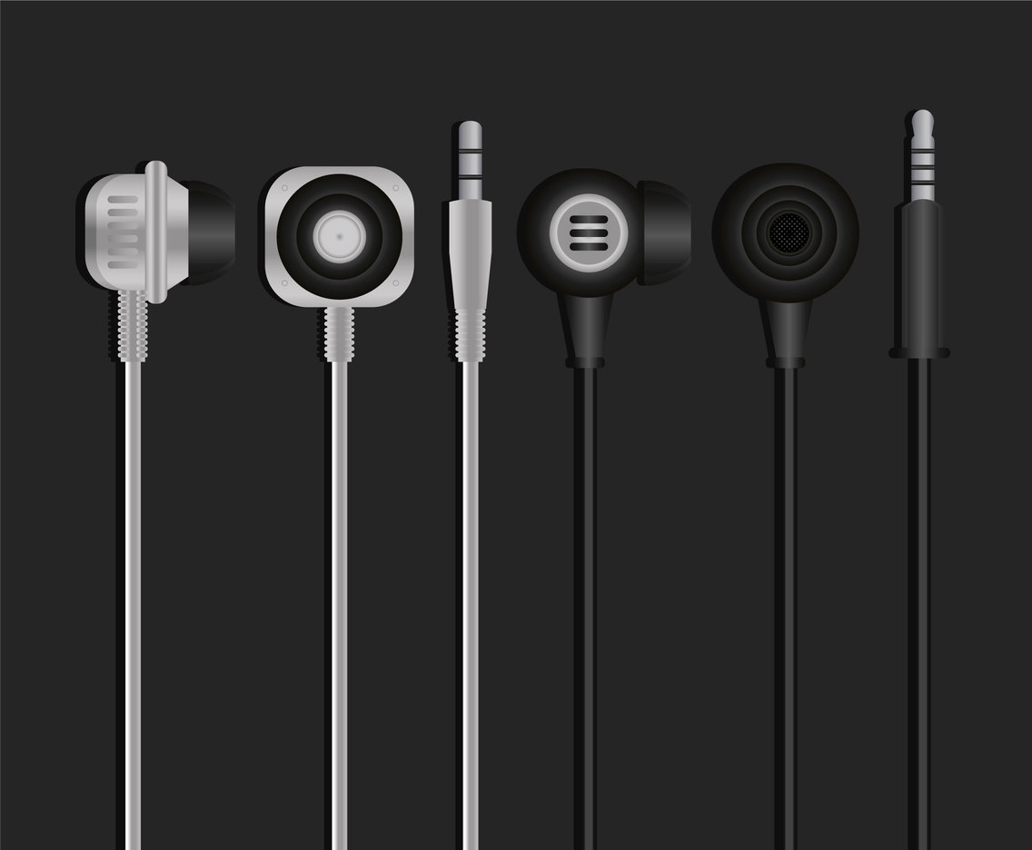 Earphone Vector Set
