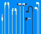 Flat Earphones Vector