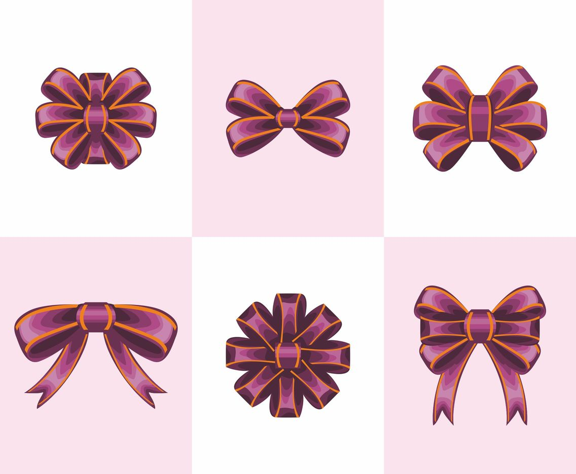 Purple Ribbon Silk Vector