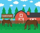Ranch vector illustration