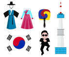 Free South Korea Iconic Vector