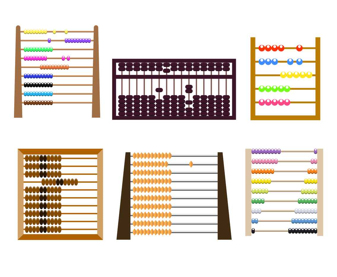 Colorful Abacus Vector