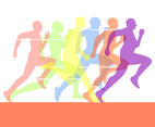 Sprint Run Illustration Vector