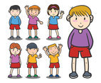 Kindergarten figures vector set