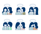 Gossip Illustration Vectors