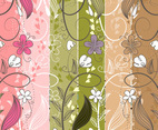 Hand Drawn Floral Banner Vectors