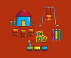 Kindergarten Illustration Vector