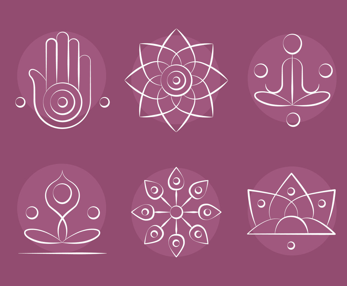 White Buddhist Symbol Vectors Vector Art Graphics Freevector