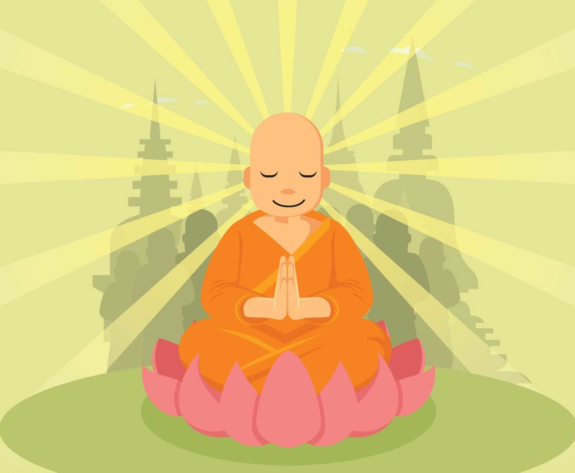 Free Meditating Buddha On The Lotus Illustration