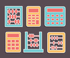 Abacus And Calculator Collection Vector