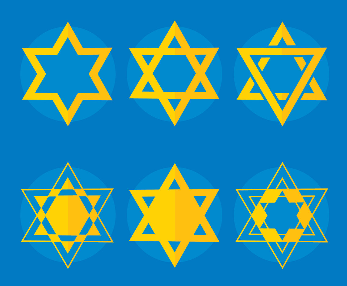 Jewish Star Collection Vector
