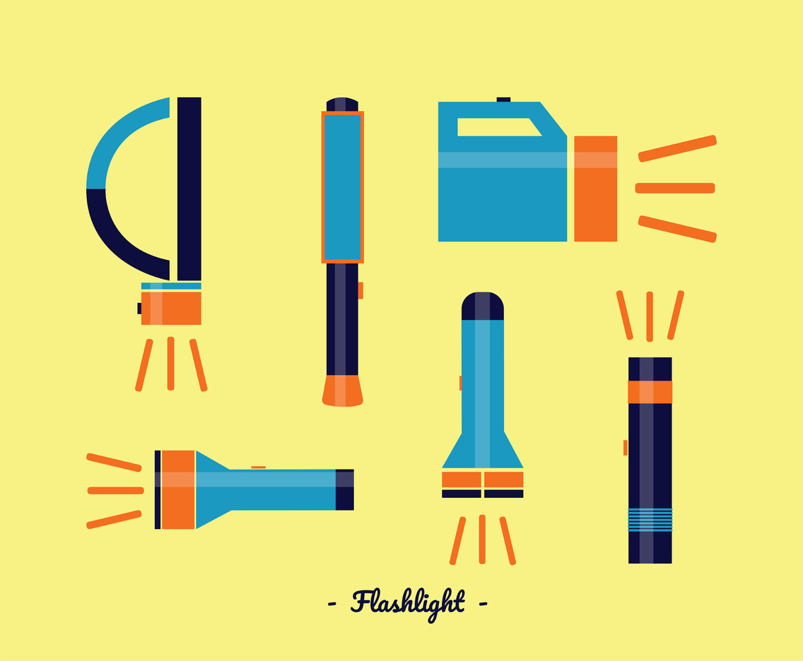 Flashlights Vector Pack
