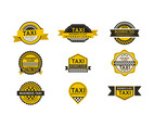 Business label taxi