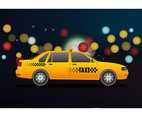 Taxi at night