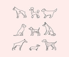 Outlined Dogs
