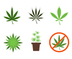 Flat Cannabis Vector