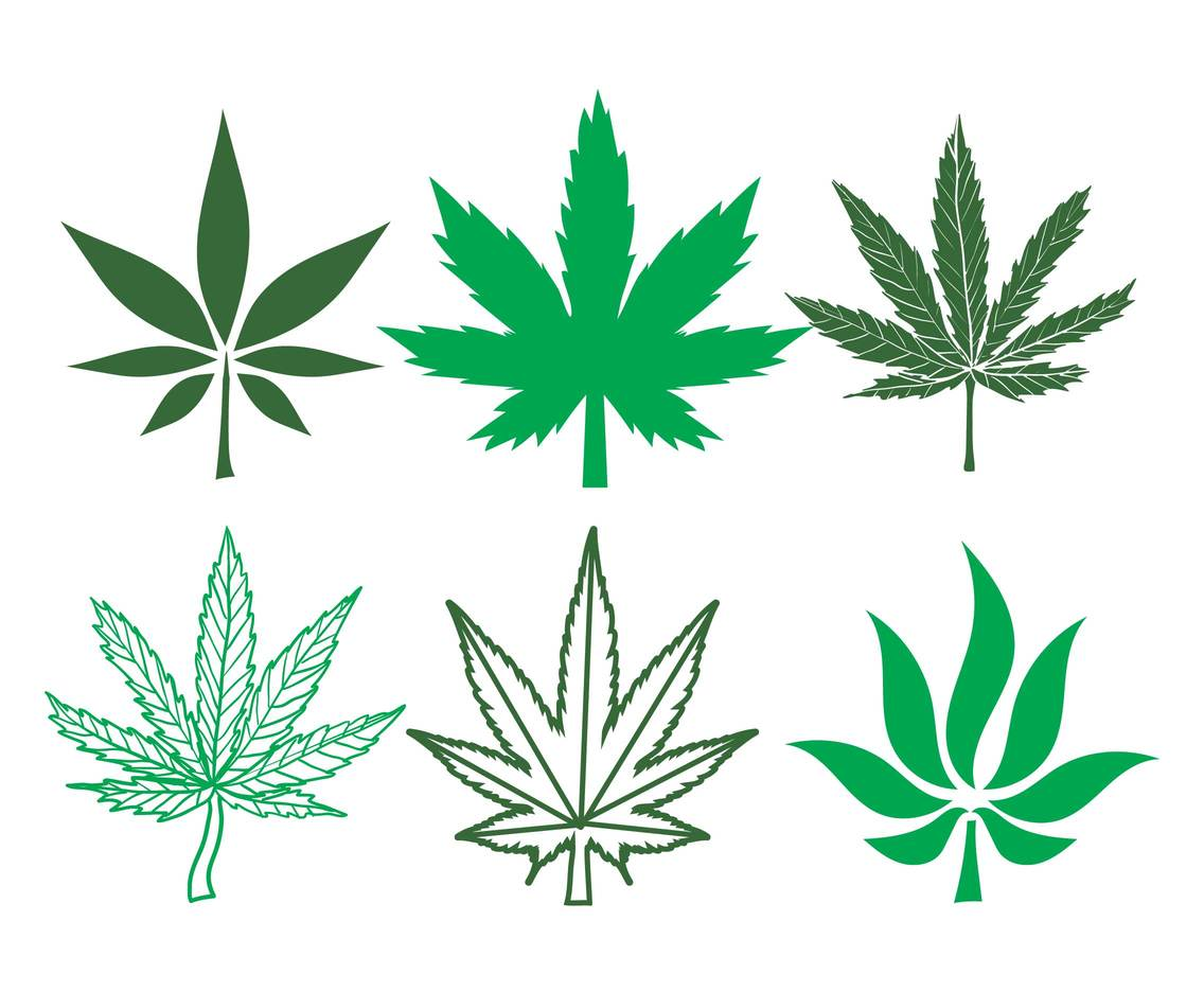 Cannabis vector set